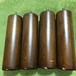 ムジルシリョウヒン(MUJI (無印良品))の無印良品 脚付きマットレス用脚 旧型4本 ブラウン20cm(脚付きマットレスベッド)