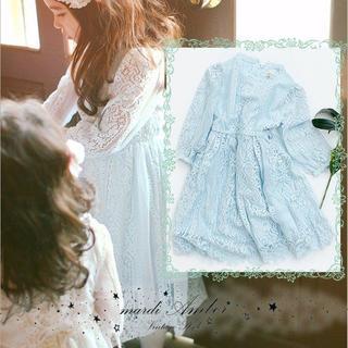 アンバー(Amber)の特別価格【90〜120】韓国子供服 総レース ロング ワンピース (ワンピース)