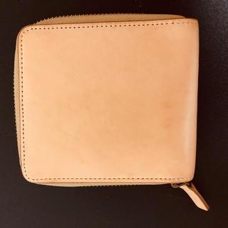 ムジルシリョウヒン(MUJI (無印良品))の二つ折り財布 イタリア産ヌメ革ラウンドファスナー MUJI(財布)