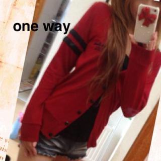 ワンウェイ(one*way)のone way☆カーディガン(カーディガン)