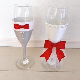 ディズニー(Disney)の乾杯グラス グラスドレス 結婚式 ディズニー風(ウェディングドレス)