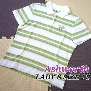 アシュワース(Ashworth)のアシュワース レディース半袖ポロシャツ 可愛いラウンドウェア 小さいサイズ(ウエア)