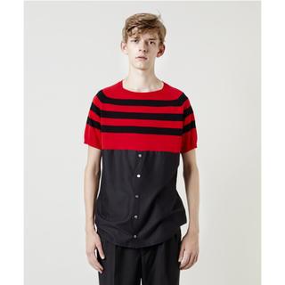 クリスチャンダダ(CHRISTIAN DADA)のStripe Exchange Shirt ボーダー ニットシャツ(Tシャツ/カットソー(半袖/袖なし))