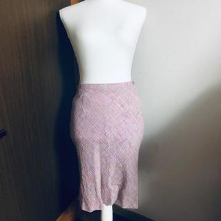 ヨンドシー(4℃)の4℃ ヨンドシー 上品スカート ラベンダー(ひざ丈スカート)