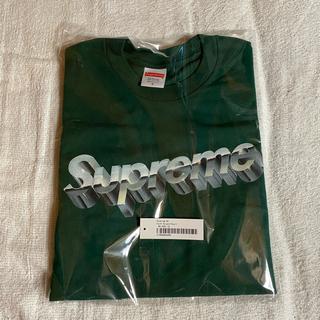 シュプリーム(Supreme)のSupreme Chrome Logo Tee  Green グリーン S(Tシャツ/カットソー(半袖/袖なし))