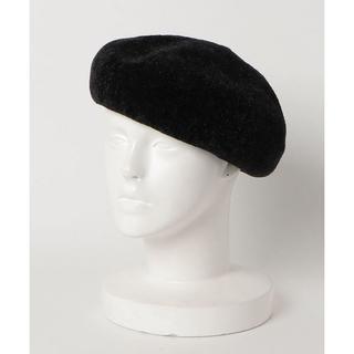 フリークスストア(FREAK'S STORE)の新品タグ付き★フリークスストア★モールヤーンベレー帽★ブラック黒(ハンチング/ベレー帽)