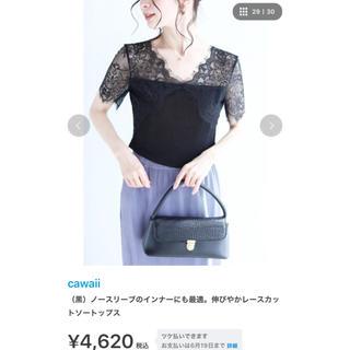 カワイイ(cawaii)のレースカットソー、インナー☆cawaii(カットソー(半袖/袖なし))