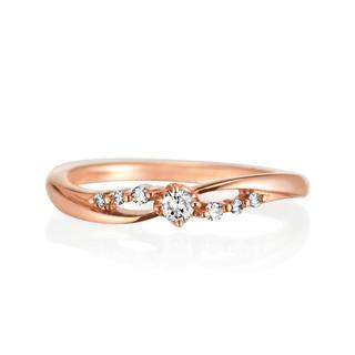 ヨンドシー(4℃)の0.09ctダイヤリング(リング(指輪))