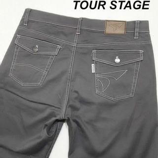 ツアーステージ(TOURSTAGE)のツアーステージ ゴルフパンツ W86cm ストレッチ ワークパンツ グレー(ウエア)