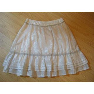 ジェーンマープル(JaneMarple)のジェーンマープルシルバーレースのスカート  (ミニスカート)