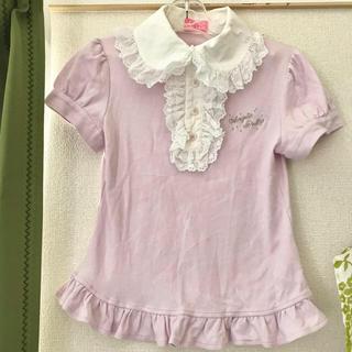 アンジェリックプリティー(Angelic Pretty)の半袖カットソー 丸襟 ピンク(カットソー(半袖/袖なし))