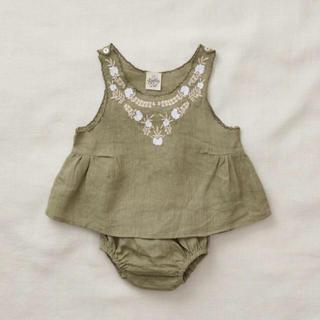 キャラメルベビー&チャイルド(Caramel baby&child )のapolina 'BESSIE' SUN SET  12-18m ピスタチオ(タンクトップ/キャミソール)