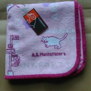 エーエスマンハッタナーズ(A.S.Manhattaner's)のA.S.Manhattane'sのタオルハンカチ 猫 新品(ハンカチ)