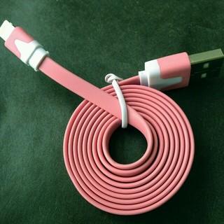 巻き取りライトニングケーブル ピンク(バッテリー/充電器)