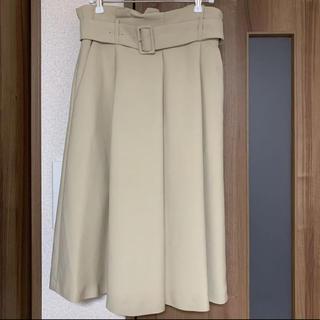 マルティニークルコント(martinique Le Conte)の美品♡フレアスカート♡ベージュ♡マルティニーク(ひざ丈スカート)