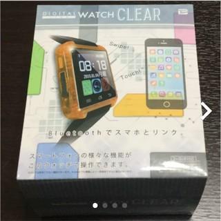 新品・デジタル ウォッチ・オレンジ(腕時計(デジタル))