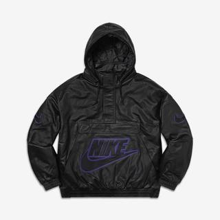 シュプリーム(Supreme)のSupreme Nike Leather Anorak Black Size L(レザージャケット)