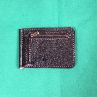 ハンドメイド 牛革のクリップ財布4(財布)