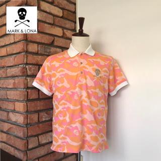 マークアンドロナ(MARK&LONA)の定価2.3万/数回使用 マーク&ロナ ポロシャツ ゴルフウェア メンズ ピンク系(ウエア)