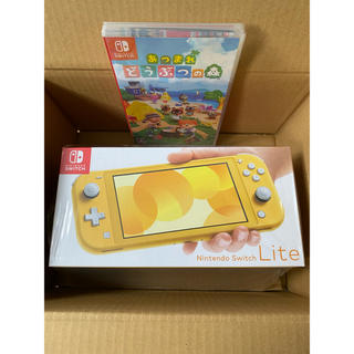ニンテンドースイッチ(Nintendo Switch)の任天堂 Switch lite イエロー あつまれ どうぶつの森ソフトセット(家庭用ゲーム機本体)