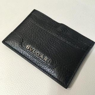 ブルガリ(BVLGARI)の正規品 BVLGARI ブルガリ パスケース カードケース 名刺入れ 黒(名刺入れ/定期入れ)
