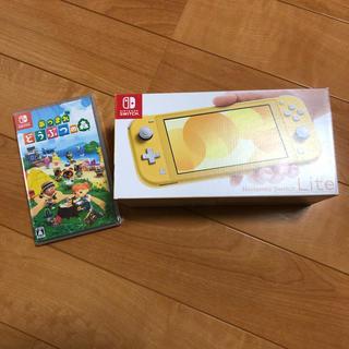 ニンテンドースイッチ(Nintendo Switch)の新品 任天堂スイッチ LITE イエロー どうぶつの森ソフトセット switch(携帯用ゲーム機本体)