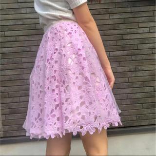 ダズリン(dazzlin)の《大人気ダズリンスカート》 パープル チュール重ねスカート(ひざ丈スカート)