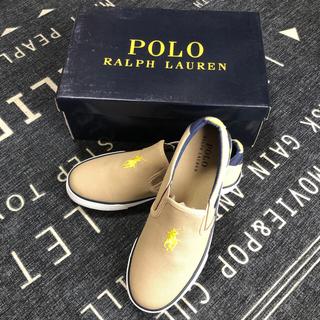 ポロラルフローレン(POLO RALPH LAUREN)のPOLO RALPH LAUREN スニーカー 23.5cm 新品・未使用 ⭐️(スリッポン)