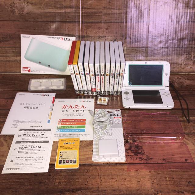 任天堂(ニンテンドウ)の任天堂 3DS LL本体他 ソフト12本 付属品付き スターターセット エンタメ/ホビーのゲームソフト/ゲーム機本体(家庭用ゲーム機本体)の商品写真