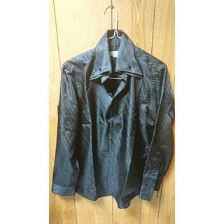 メンズティノラス(MEN'S TENORAS)のNinaさん専用メンズティノラス光沢ドレスシャツ  オープンカラー  ブラック(シャツ)