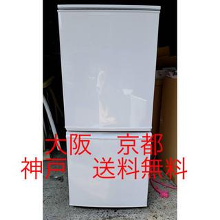 シャープ(SHARP)のシャープ ノンフロン冷凍冷蔵庫  SJ-D14A-W       2015年製 (冷蔵庫)