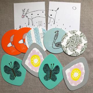 ミナペルホネン(mina perhonen)のminä perhonen/コースター 11枚セット(新品)(テーブル用品)