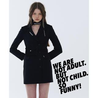 スタイルナンダ(STYLENANDA)の韓国ファッション odd one out ワンピースコートblackpink御用(テーラードジャケット)
