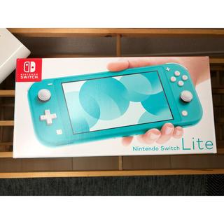 ニンテンドースイッチ(Nintendo Switch)のNintendo Switch lite ターコイズ 新品(家庭用ゲーム機本体)