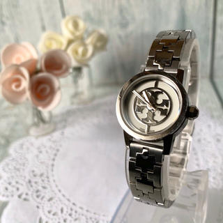 トリーバーチ(Tory Burch)の【動作OK】TORY BURCH トリーバーチ 腕時計 シルバー ラウンド(腕時計)