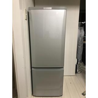 ミツビシデンキ(三菱電機)の三菱 ノンフロン冷蔵庫 シルバー 168L(冷蔵庫)