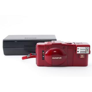 オリンパス(OLYMPUS)の動作確認済み 一部難アリ OLYMPUS XA2 レッド 赤 返品可(フィルムカメラ)