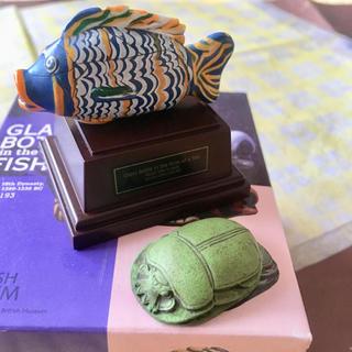 スカラベ 魚形ガラス容器 置き物 オブジェ 置物(彫刻/オブジェ)