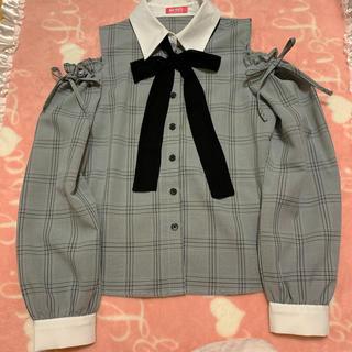 マーズ(MA*RS)のMARS 肩あき チェックシャツ(シャツ/ブラウス(長袖/七分))