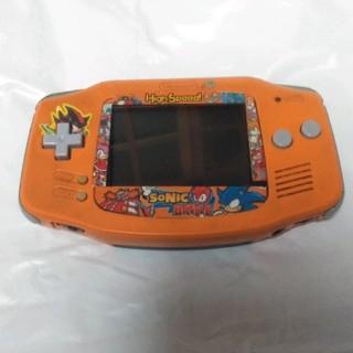 ゲームボーイアドバンス(ゲームボーイアドバンス)の【⚠ジャンク品】GBA オレンジ ラクマパック 画面電源良 ボタン操作不可 (携帯用ゲーム機本体)