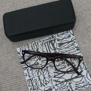 ゾフ(Zoff)のzoff クリアサングラス 伊達眼鏡 眼鏡 メガネ 度なし UV100%カット(サングラス/メガネ)