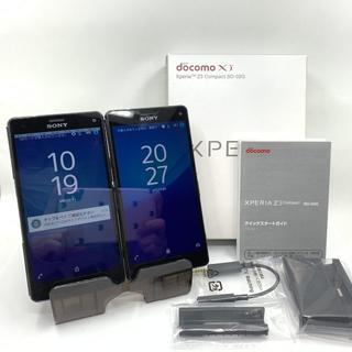 ソニー(SONY)のジャンク 2台 Xperia Z3 Compact SO-02G 456(スマートフォン本体)