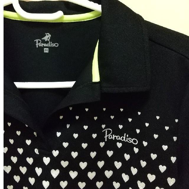 Paradiso(パラディーゾ)のパラディーゾ ゲームTシャツ レディース ハート柄 スポーツ/アウトドアのテニス(ウェア)の商品写真