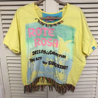 エルロデオ(EL RODEO)の最終値下げ ROTE ROSA 半袖 黄色(Tシャツ(半袖/袖なし))