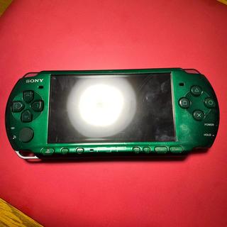 プレイステーション(PlayStation)のPSP グリーン(やどんちゃんさん専用です)(家庭用ゲーム機本体)