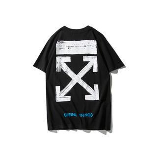 オフホワイト(OFF-WHITE)のOFF-WHITE オフホワイト Tシャツ サイズXL 黒 シンプル(Tシャツ/カットソー(半袖/袖なし))