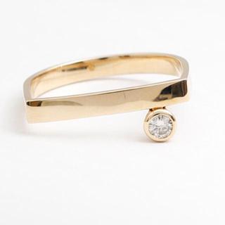 ヒロタカ Gold Bar Diamond Ring ダイヤモンド リング(リング(指輪))