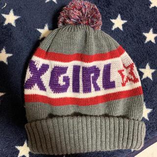 エックスガールステージス(X-girl Stages)のエックスガール 毛糸帽子(帽子)