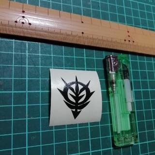 ステッカー ガンダムジオン公国マーク黒(その他)
