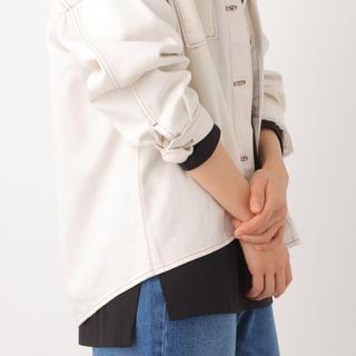 レプシィム(LEPSIM)の新品 LEPSIM  スクエアヘムロングTEE  黒 L(Tシャツ(長袖/七分))